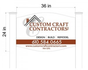 Custom Craft Job Site Sign