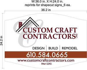 Custom Craft Contractors Job Site Sign