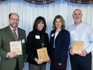 Tanya Bamford honored with award, Andy Szekely, Greg O'Brien, Pam Kelly, PSCC Awards