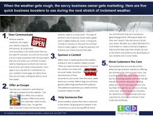 small business marketing tips for periods of inclement weather