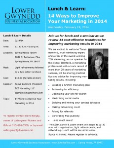 Tanya Bamford Presents Marketing Seminar for LGBA